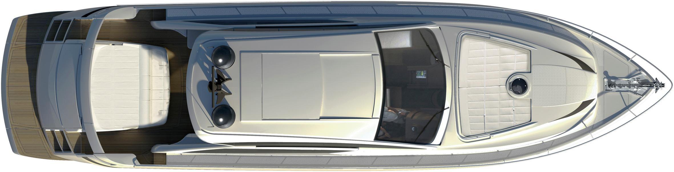 Manufacturer Provided Image: Pershing 62 Deck Layout Plan