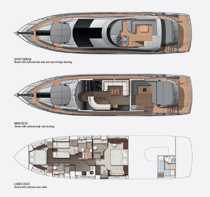 Sunseeker 68 Sport Yacht - Layout