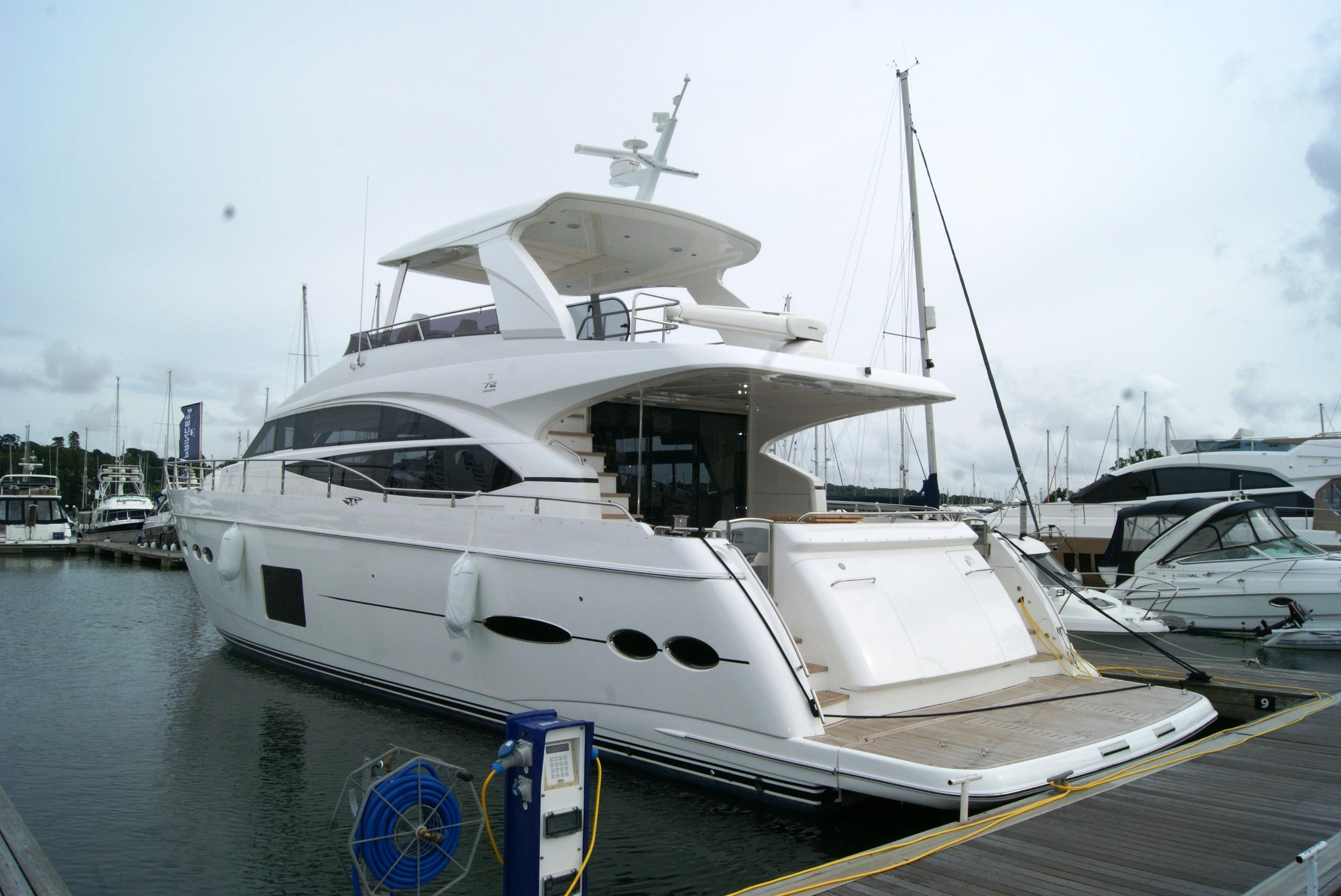 Used princess 72 motor yacht motor yacht for sale for Large motor yachts for sale