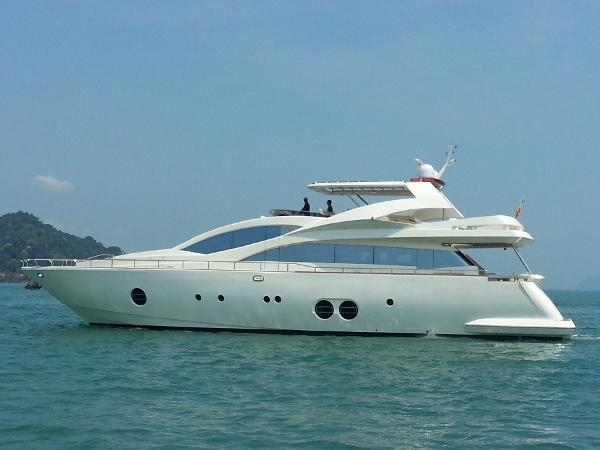 Aicon 85 Flybridge Profile