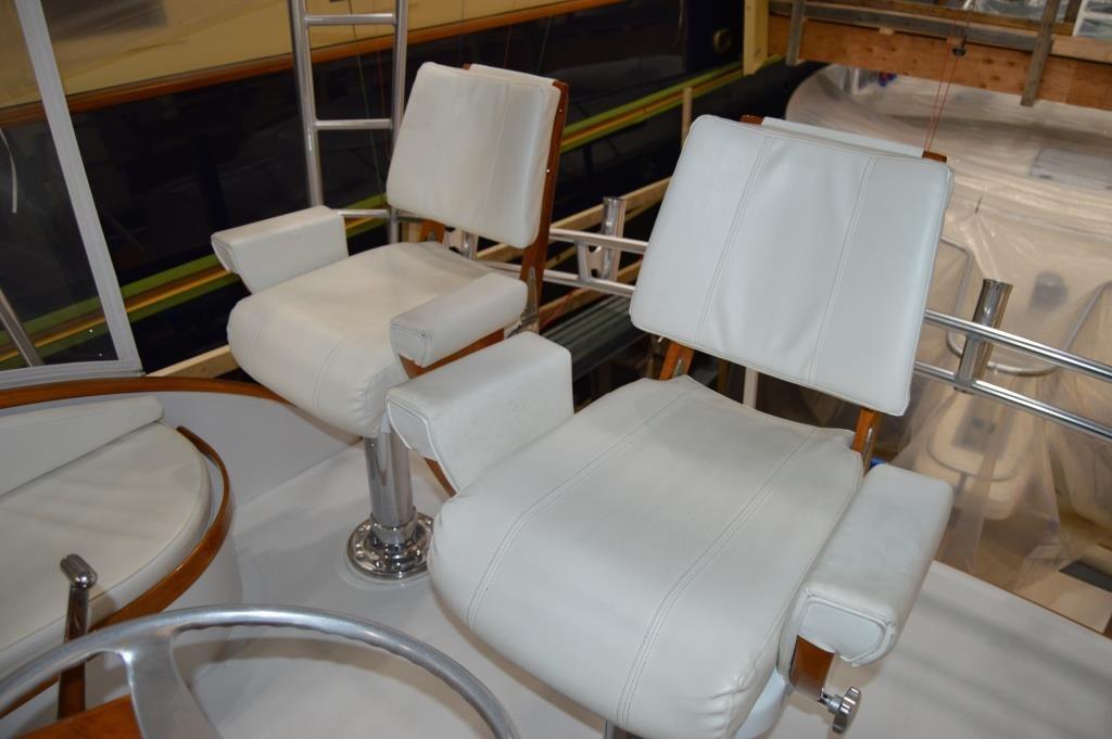 Flybridge/Teak Helm Chairs