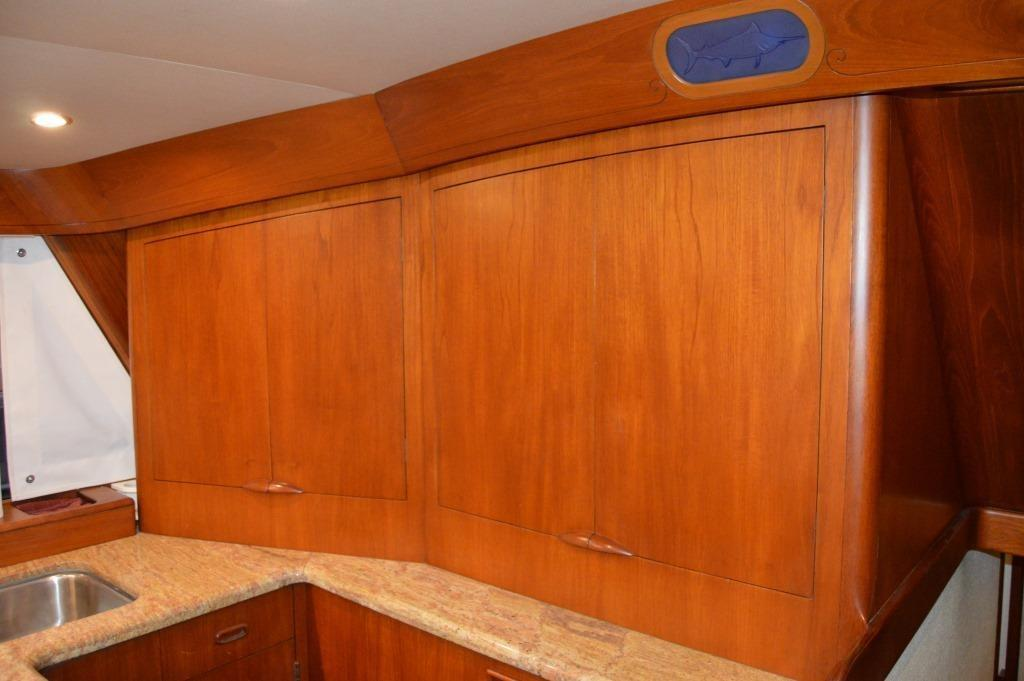 Galley Teak Cabinetry