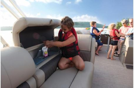 2020 Sun Tracker boat for sale, model of the boat is Party Barge 22 DLX & Image # 3 of 15