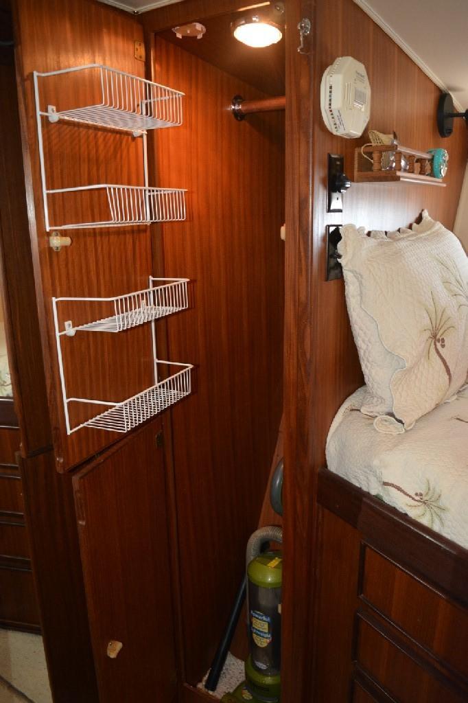 Hatteras 43 Motor Yacht - Forward Hanging Locker