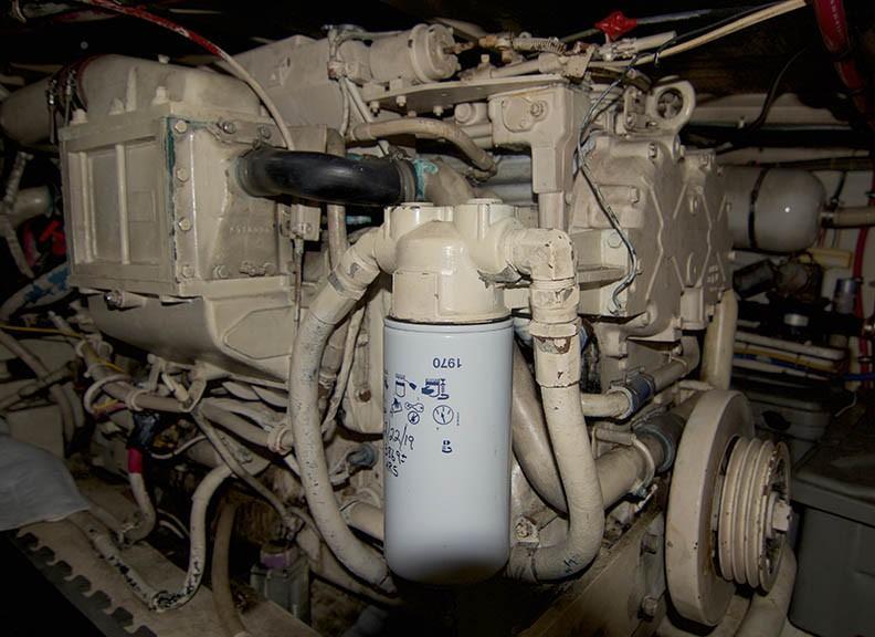Hatteras 43 Motor Yacht - Port Engine