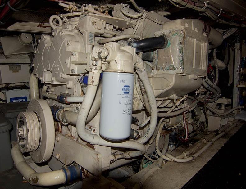 Hatteras 43 Motor Yacht - Starboard Engine