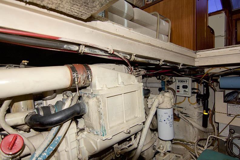 Hatteras 43 Motor Yacht - Port Engine 2