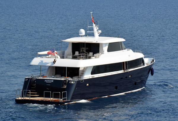 28 M Steel Aegean Yacht Motoryacht Aft