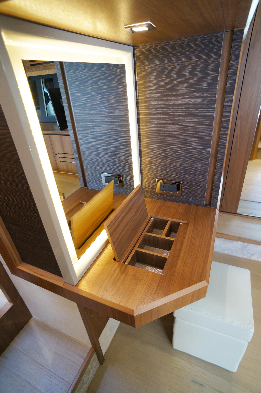 Vanity on master cabin