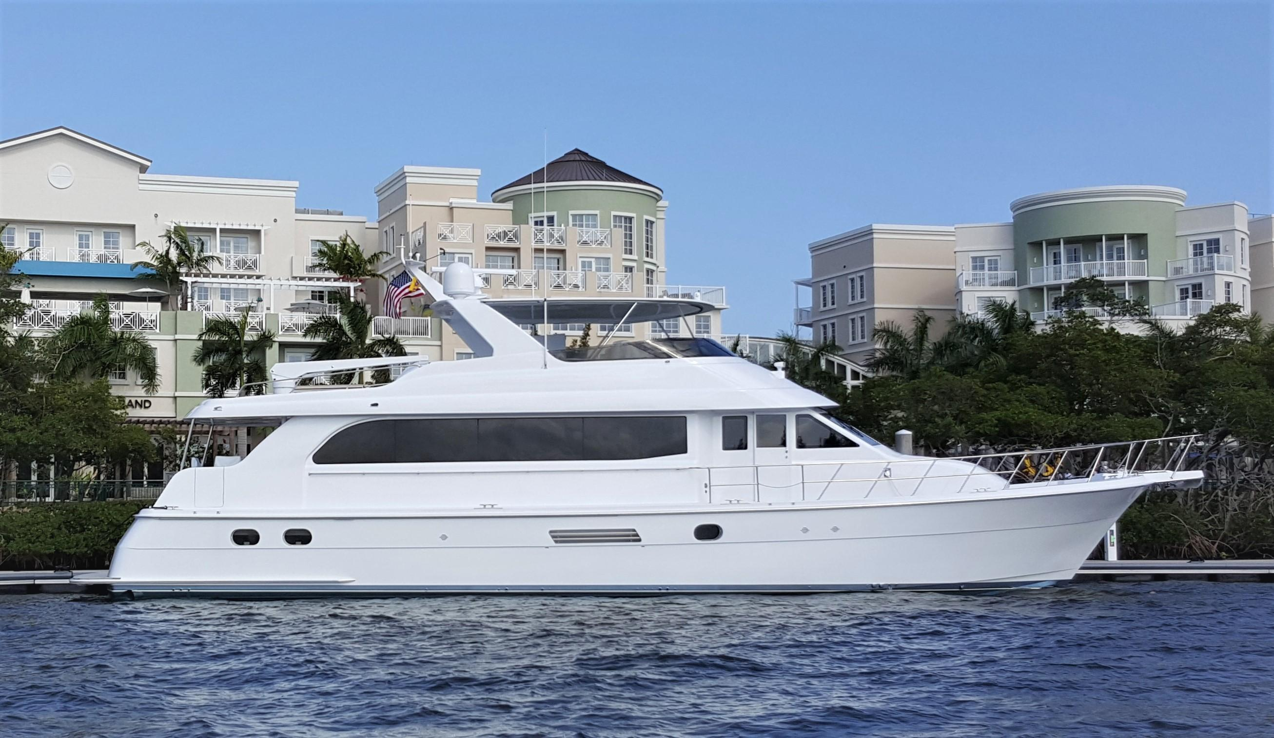 75 ft Hatteras Sport Deck