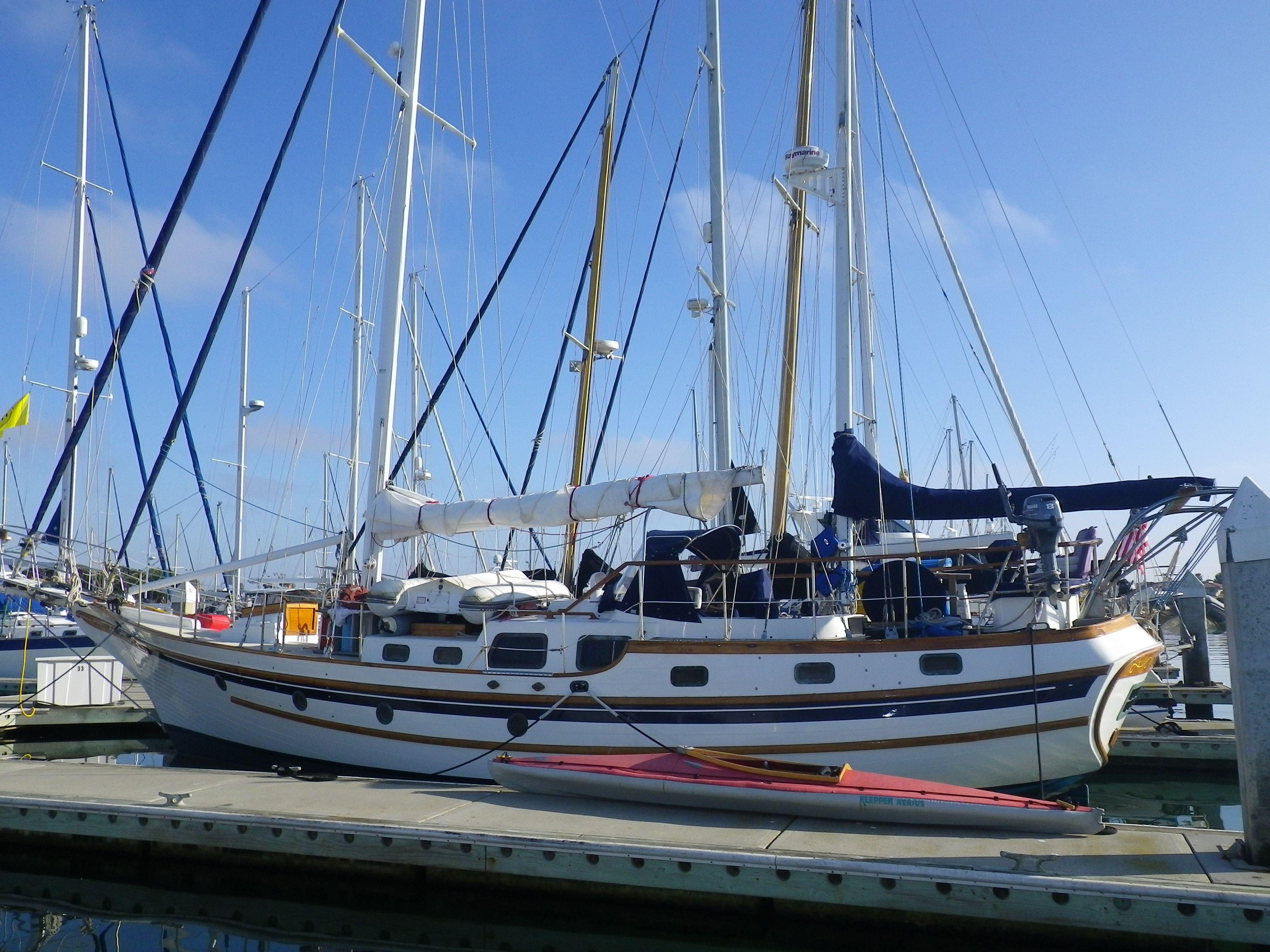 1986 bluewater yachts vagabond 47 yacht for sale in la paz bcs  mexico