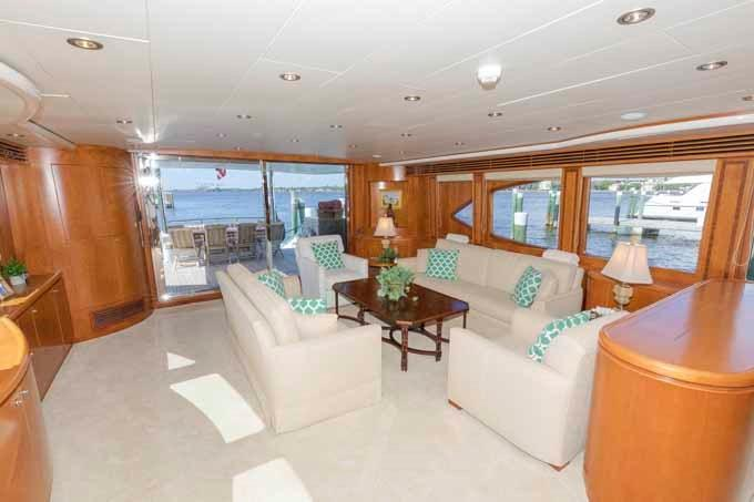 Salon Looking Aft to Port