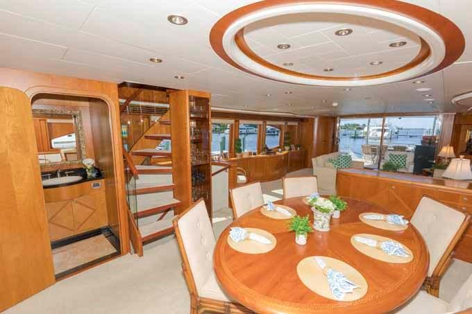 Dining Area Looking Aft to Starboard