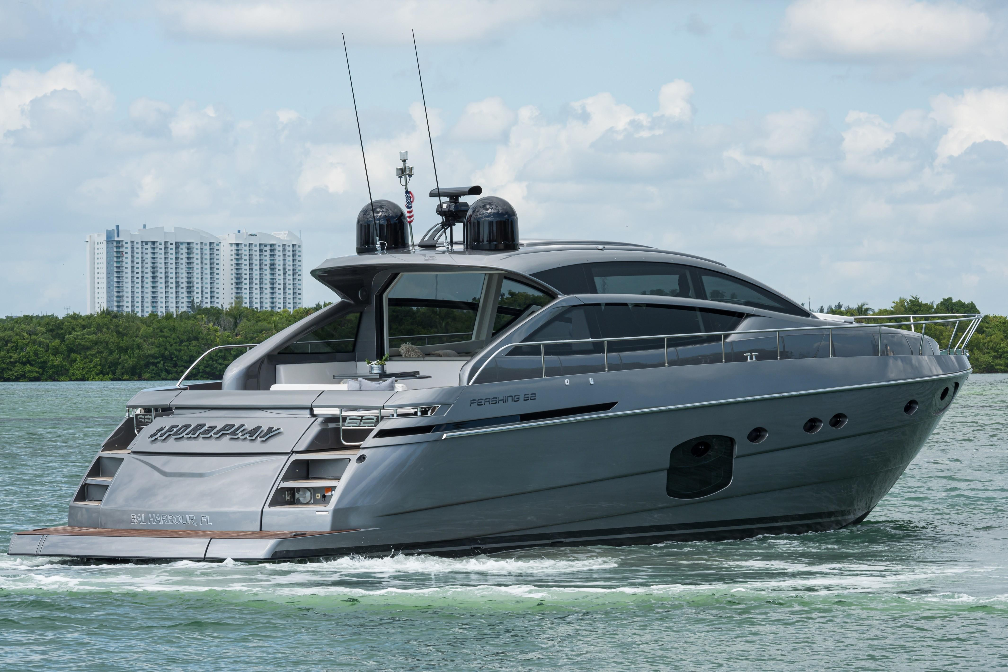 2016 Pershing 62 - Aft Profile
