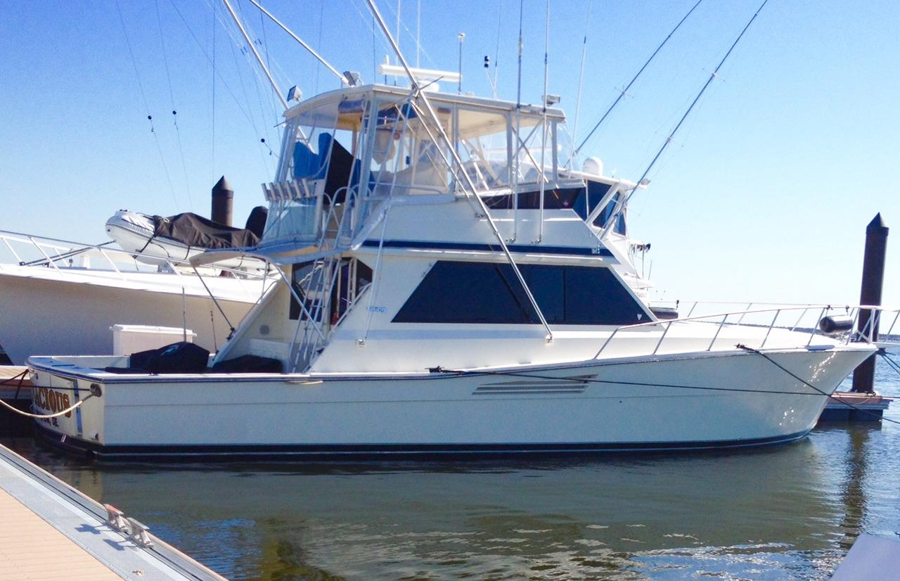 Used viking yachts for sale from 35 to 50 feet for Sport fishing boats for sale by owner