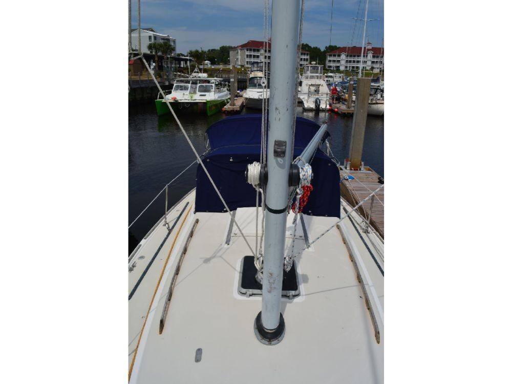 Pearson 303 Sloop - Deck looking Aft