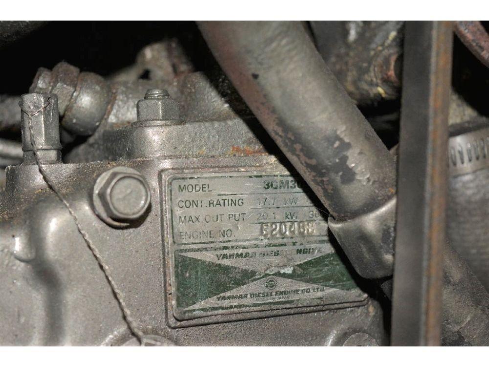 Pearson 303 Sloop - Yanmar Engine Tag
