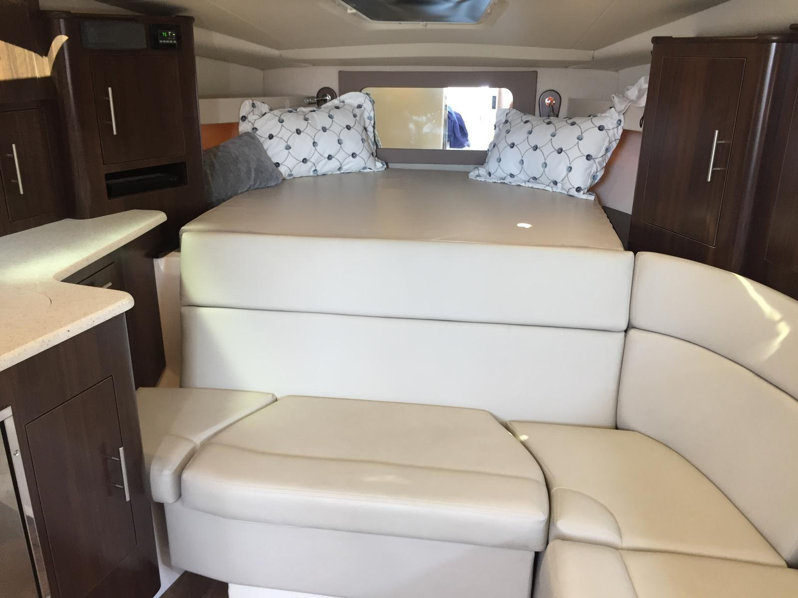 Regal 35 Sport Coupe - L-shaped seating in salon