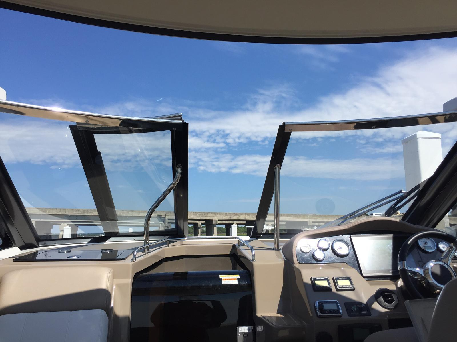 Regal 35 Sport Coupe - Walk Thru Windshield/Sunroof partially opened