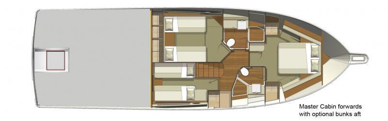 Riviera 515 SUV Forward Master Cabin Layout