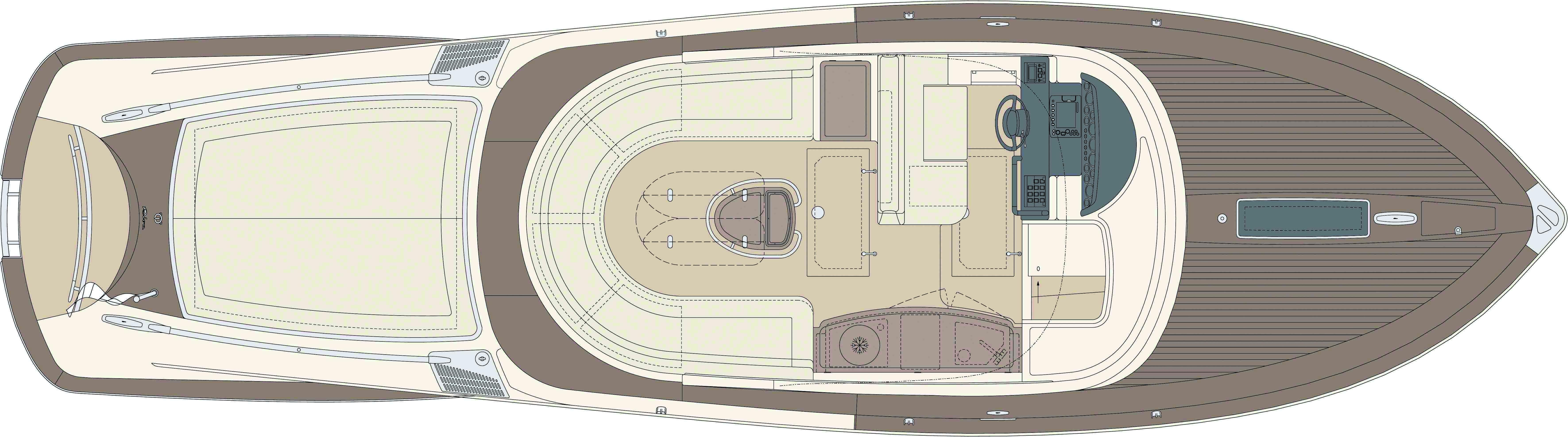 Manufacturer Provided Image: Riva Aquariva Super Upper Deck Layout Plan