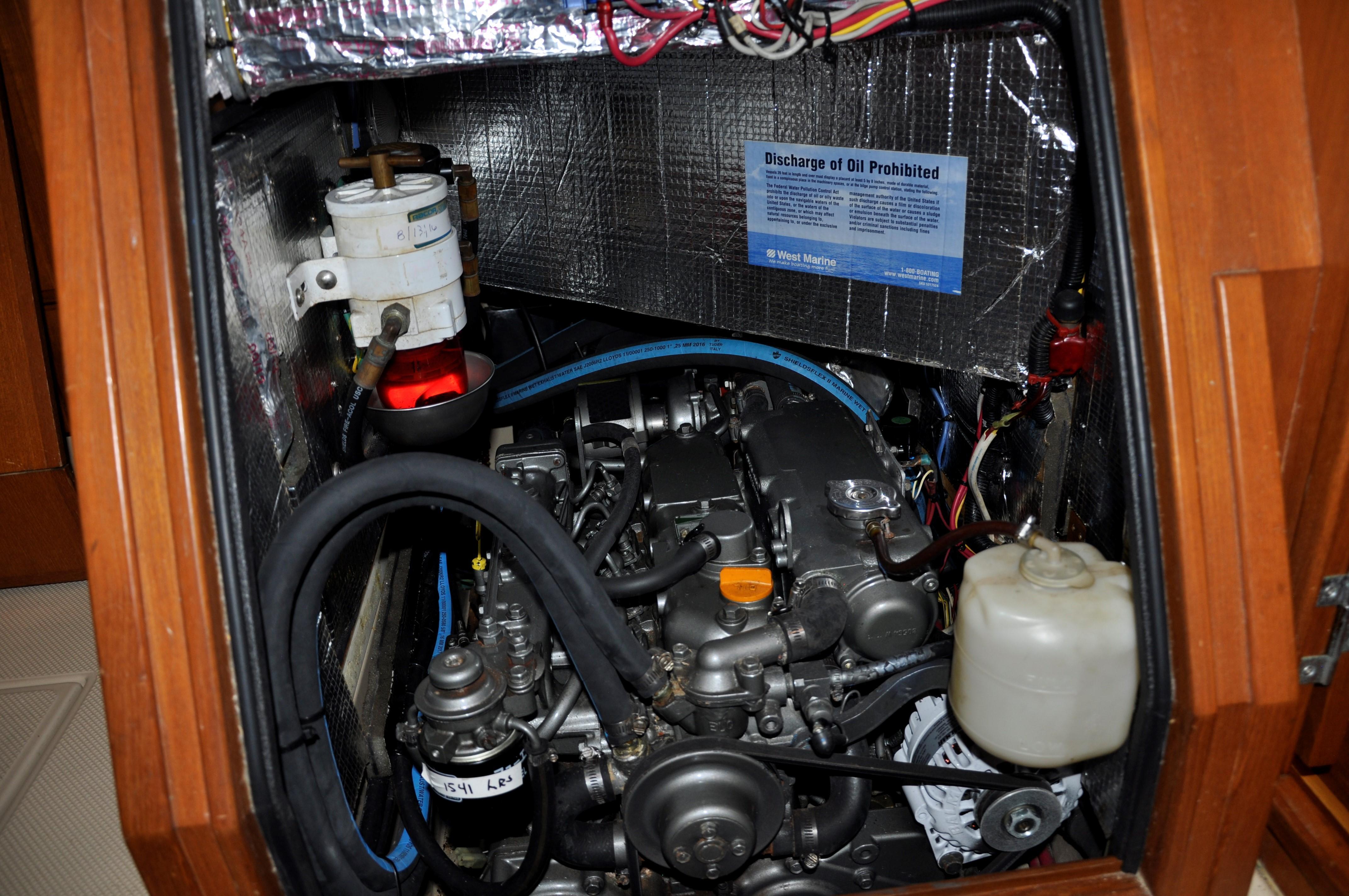 ENGINE ROOM UNDER COMPANIONWAY