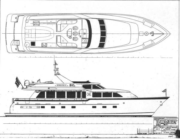 Profile Drawing And Upper Deck Plan