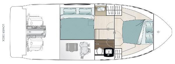 Sealine C330 lower deck layout