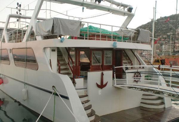 Passenger Boat Aft Deck With Swimmimng Platform