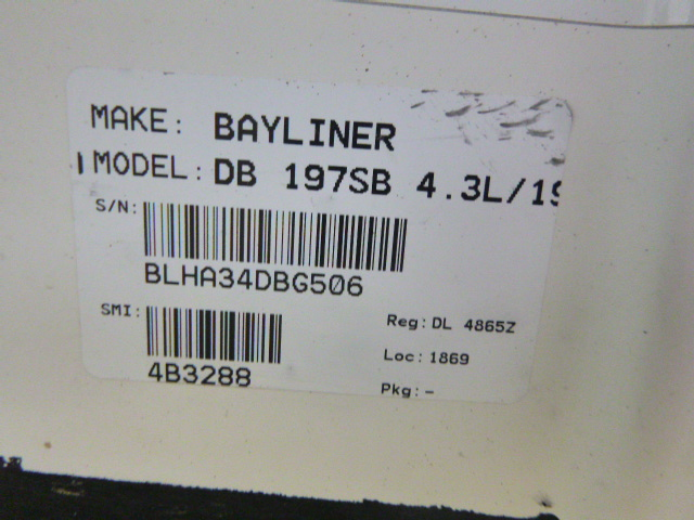 2006 Bayliner boat for sale, model of the boat is 197SD & Image # 3 of 5