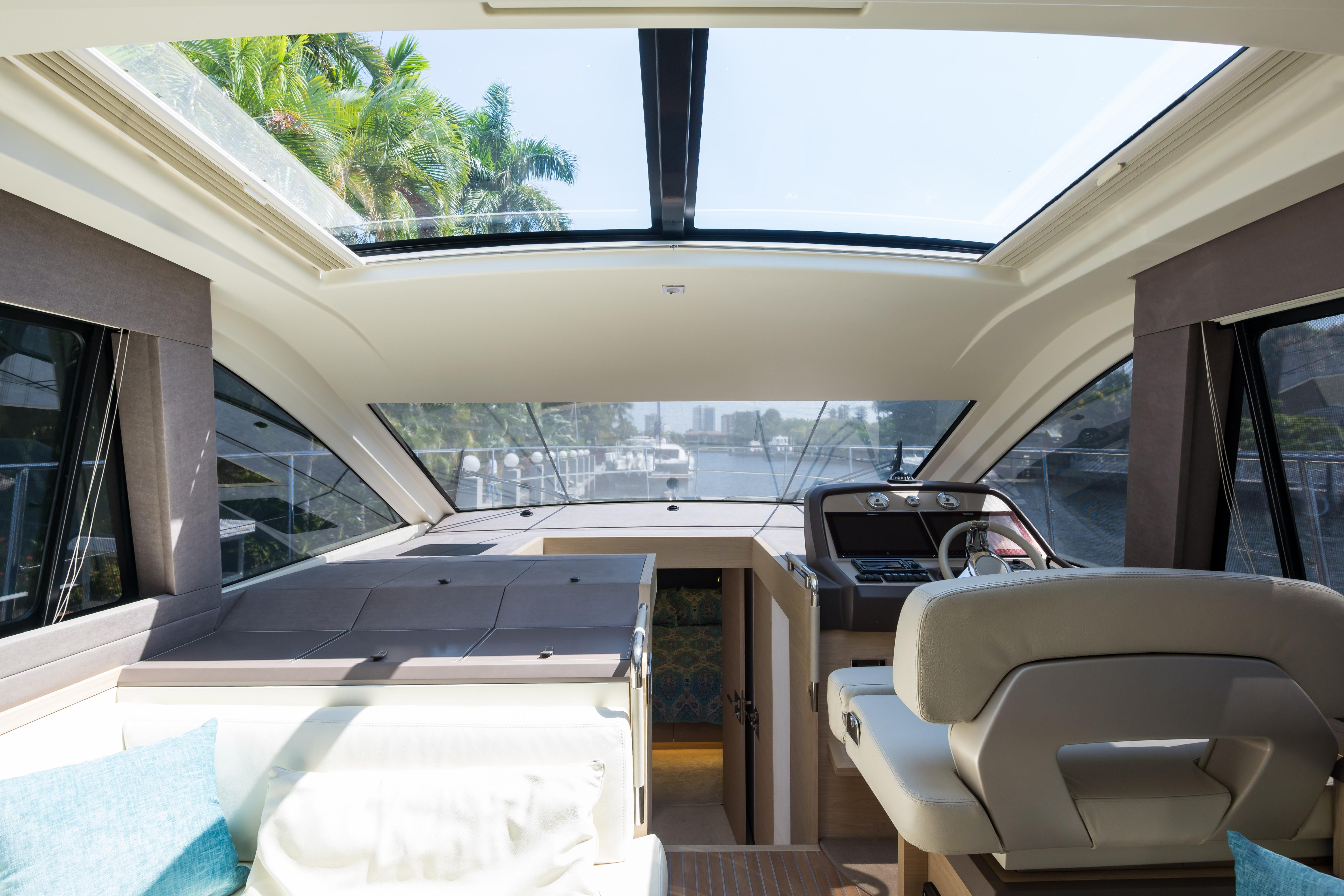 2015 Beneteau Monte Carlo 5S Helm with Roof Exposed