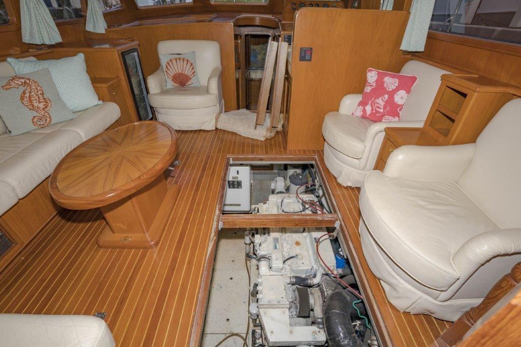Engine Room Access through salon sole