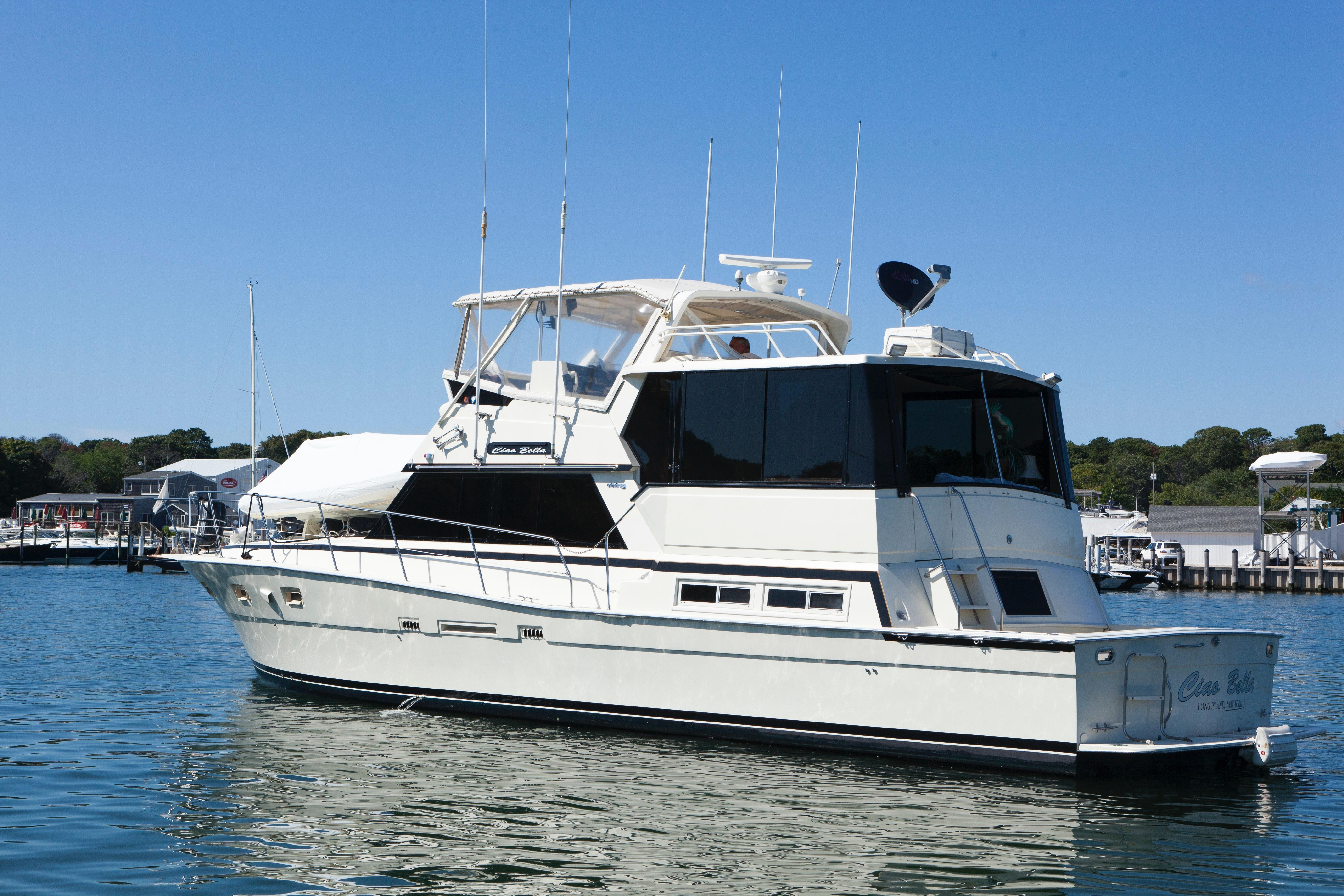 50 viking yachts 1985 ciao bella for sale in long island for 50 ft motor yachts for sale