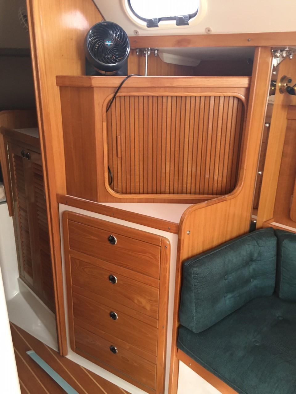 Storage in Main Salon