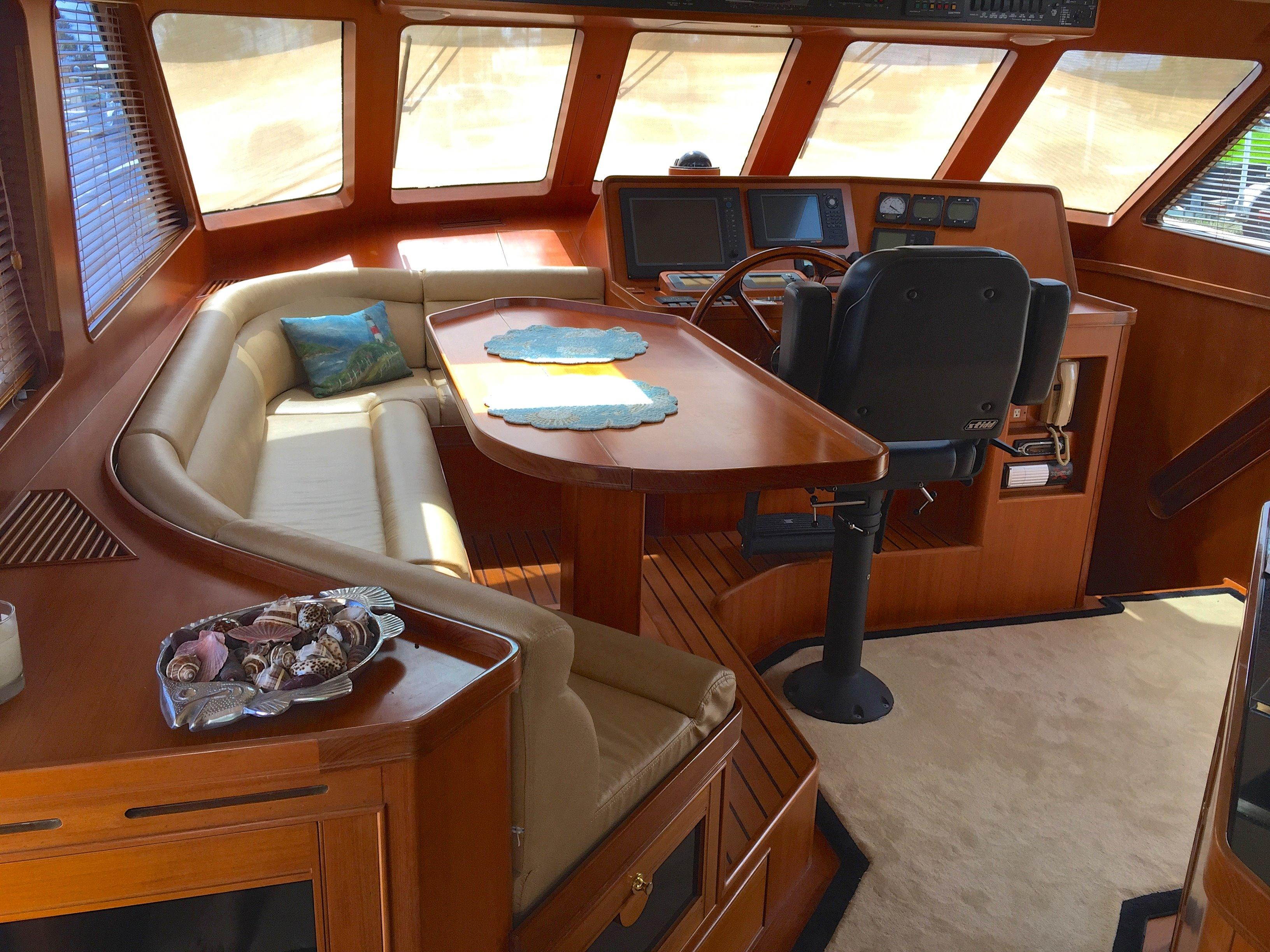 Pilothouse and seating area