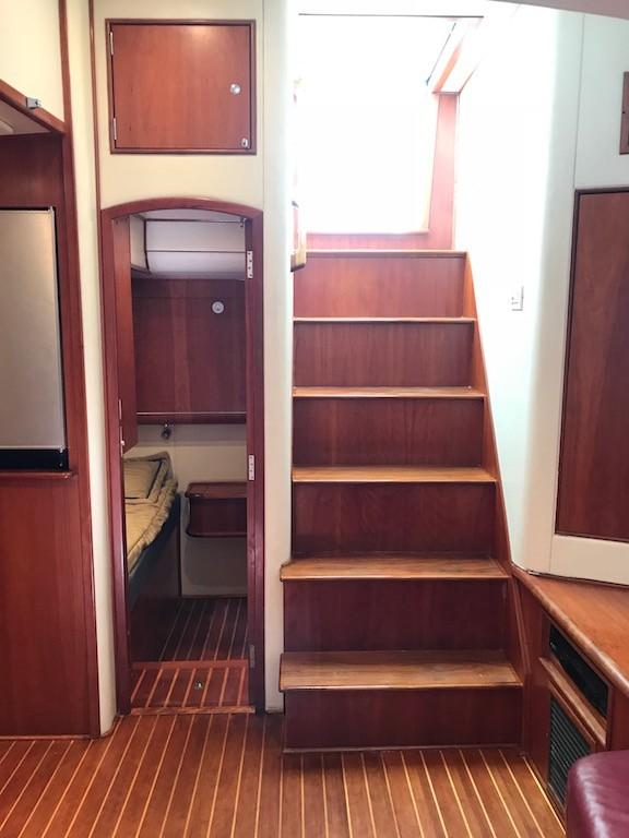 Stairway from Helm Deck