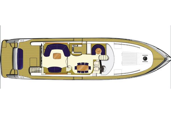 Princess 23M- Main Deck Layout