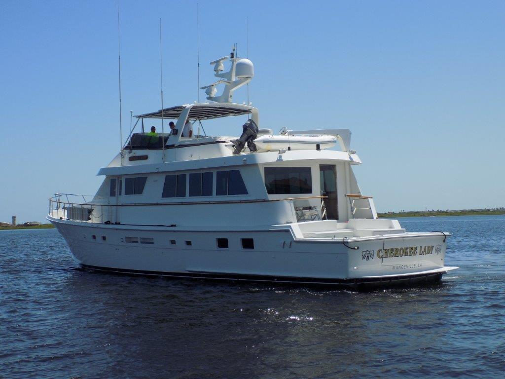 1990 hatteras 74 cockpit motor yacht for sale galati for Used motor yacht for sale