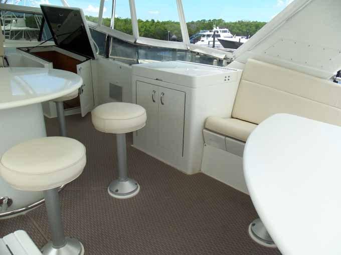 Starboard Side Flybridge Grill Cabinet