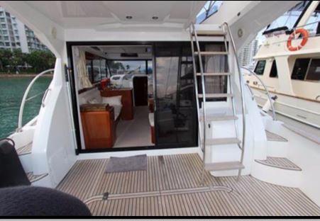 Antares 42 Aft Deck View to Salon