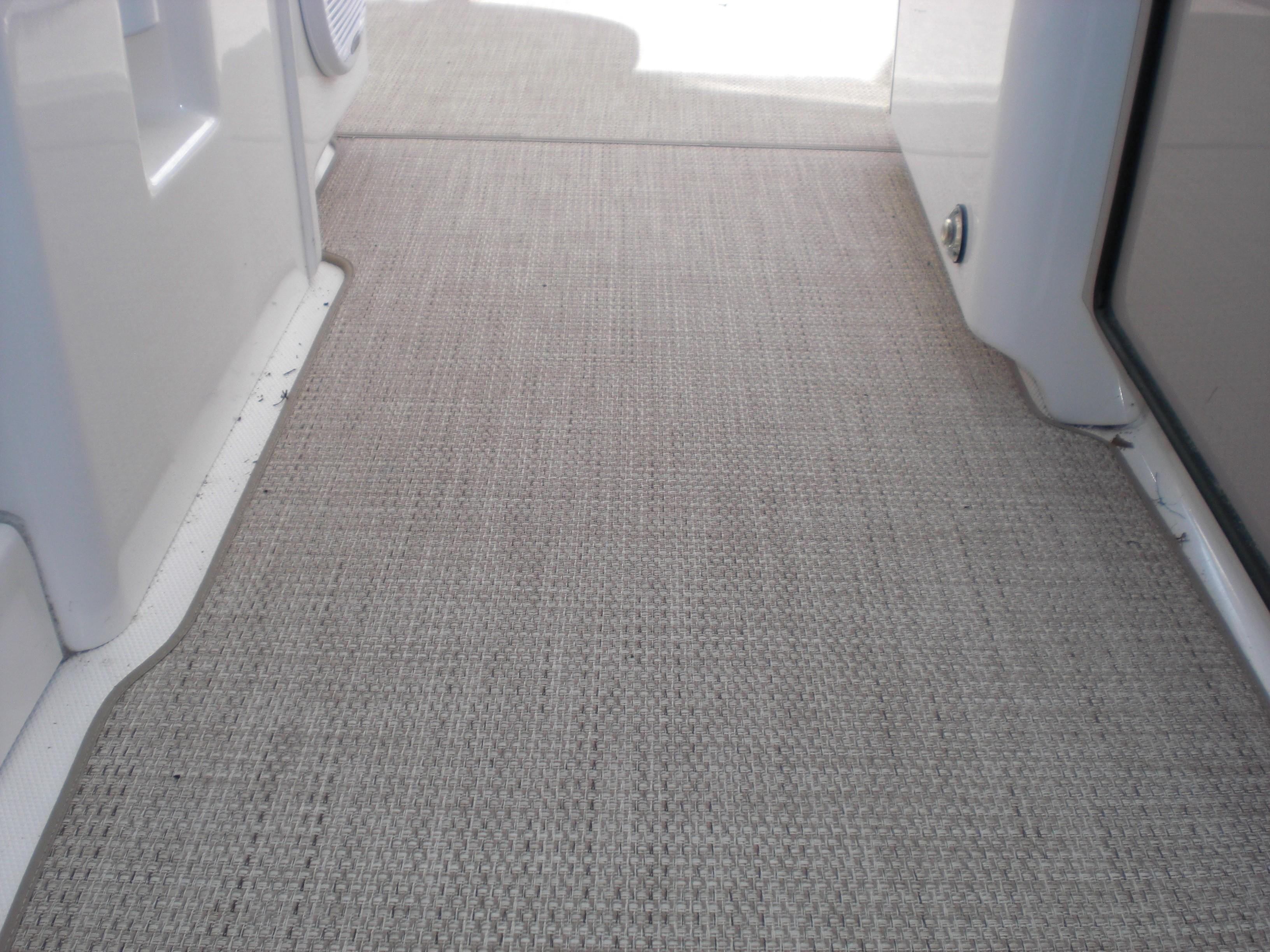 Sea Ray 480 Motor Yacht - New Vinyl flooring in cockpit