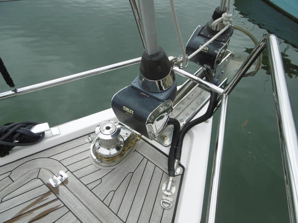 Power furling headsails
