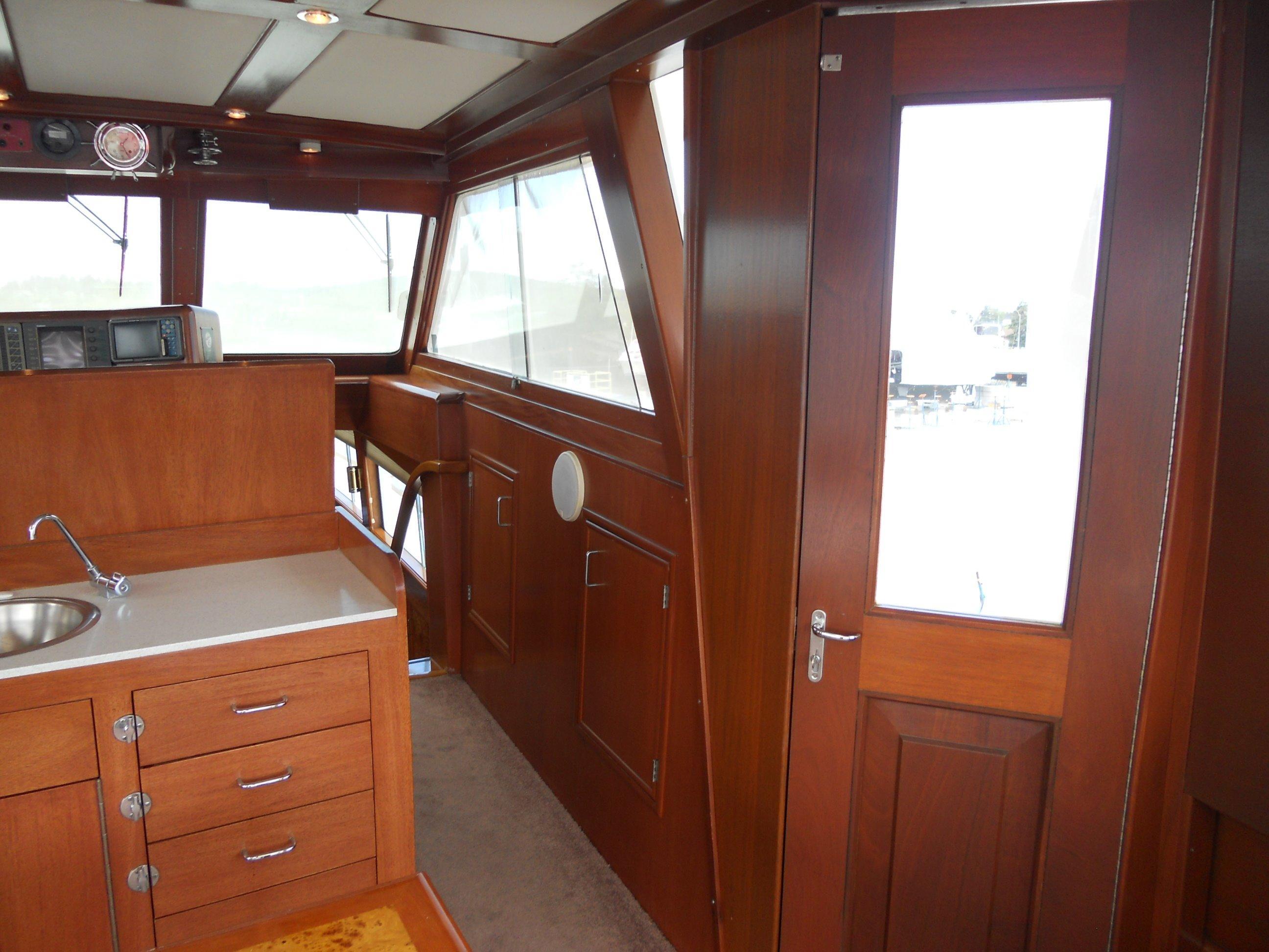 Starboard door access to side decks