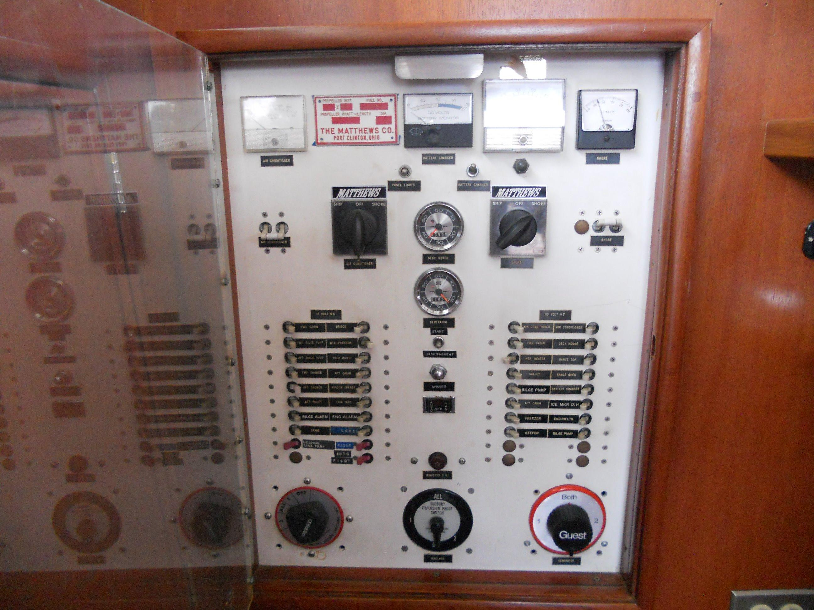 Ships electrical panel