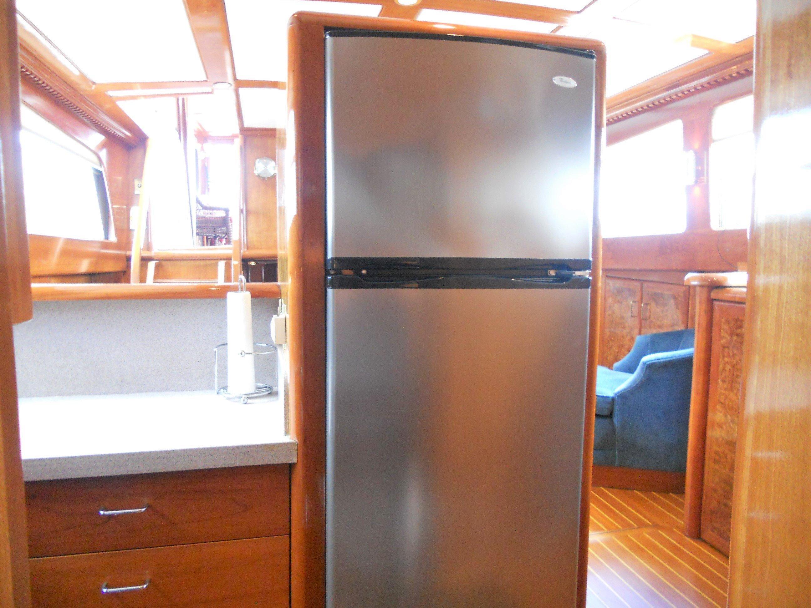Full size SS fridge/freezer
