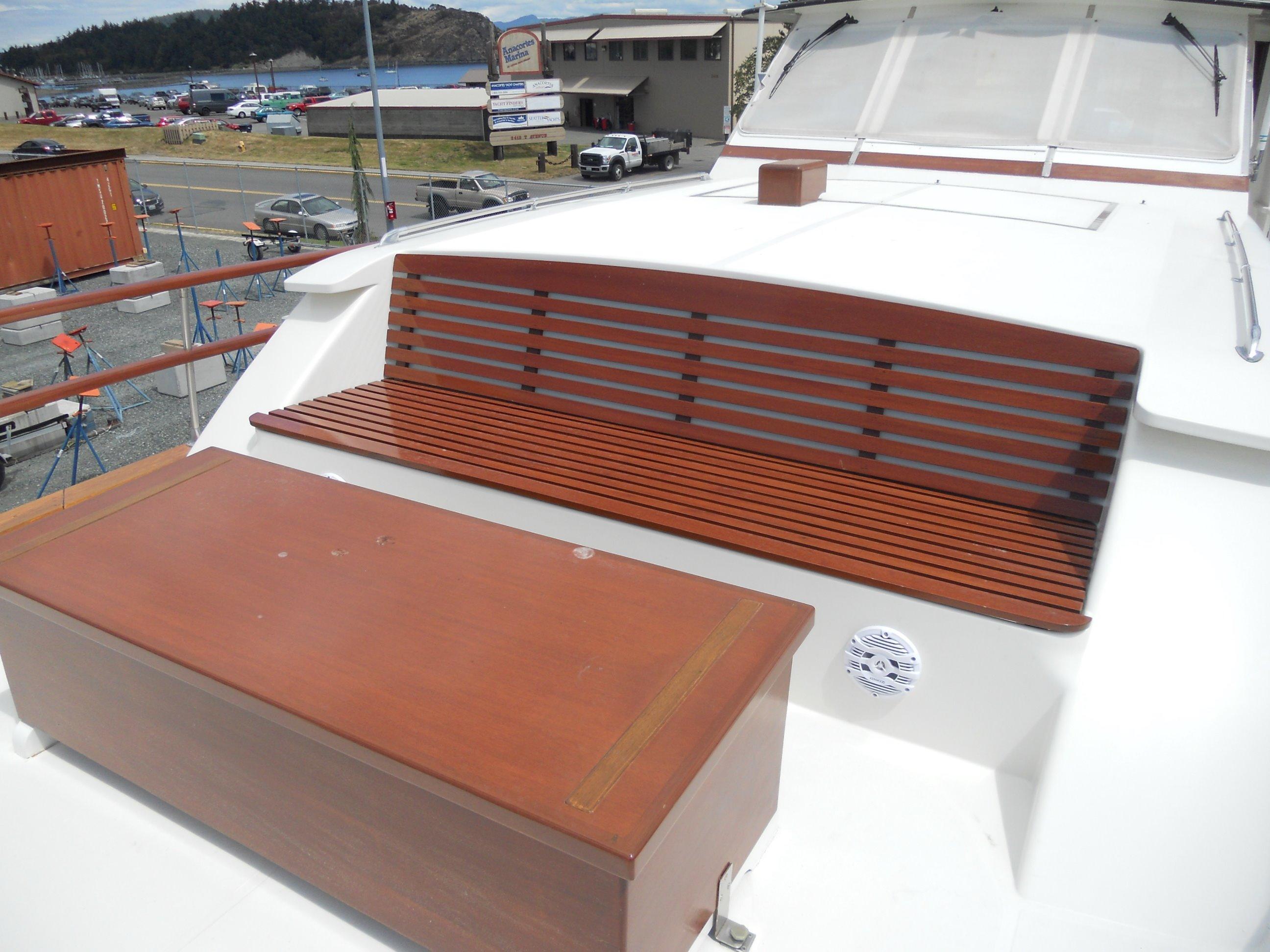 Custom teak seating