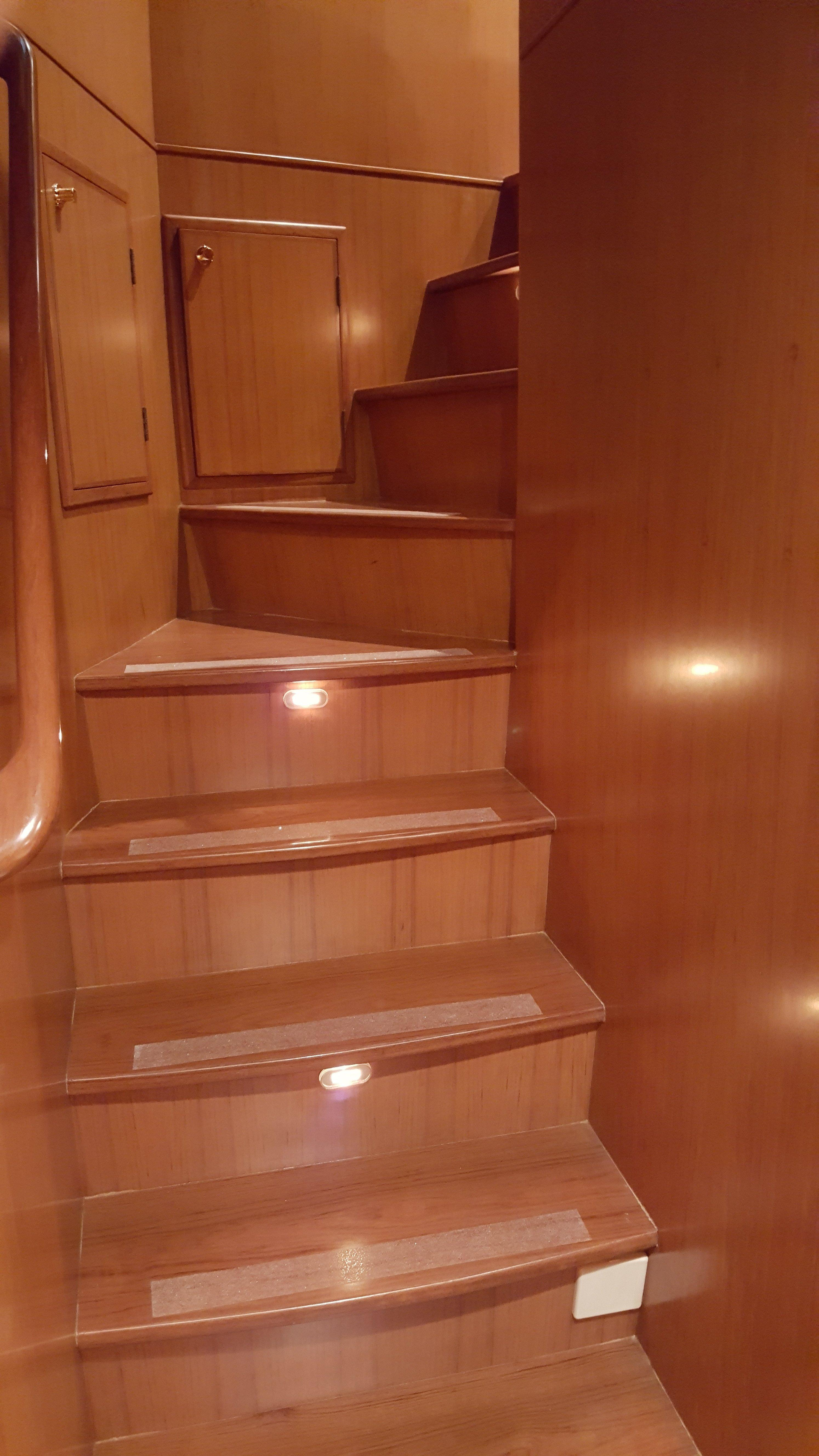 Spiral Staircase Leading up to Pilothouse