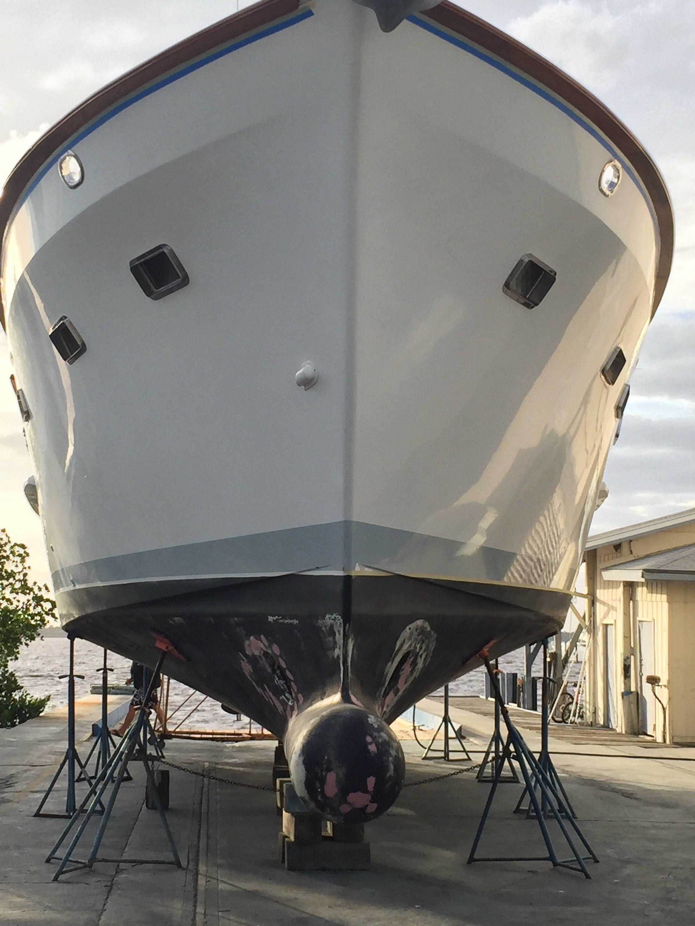 Bulbous Bow/hauled prior to painting (2016)