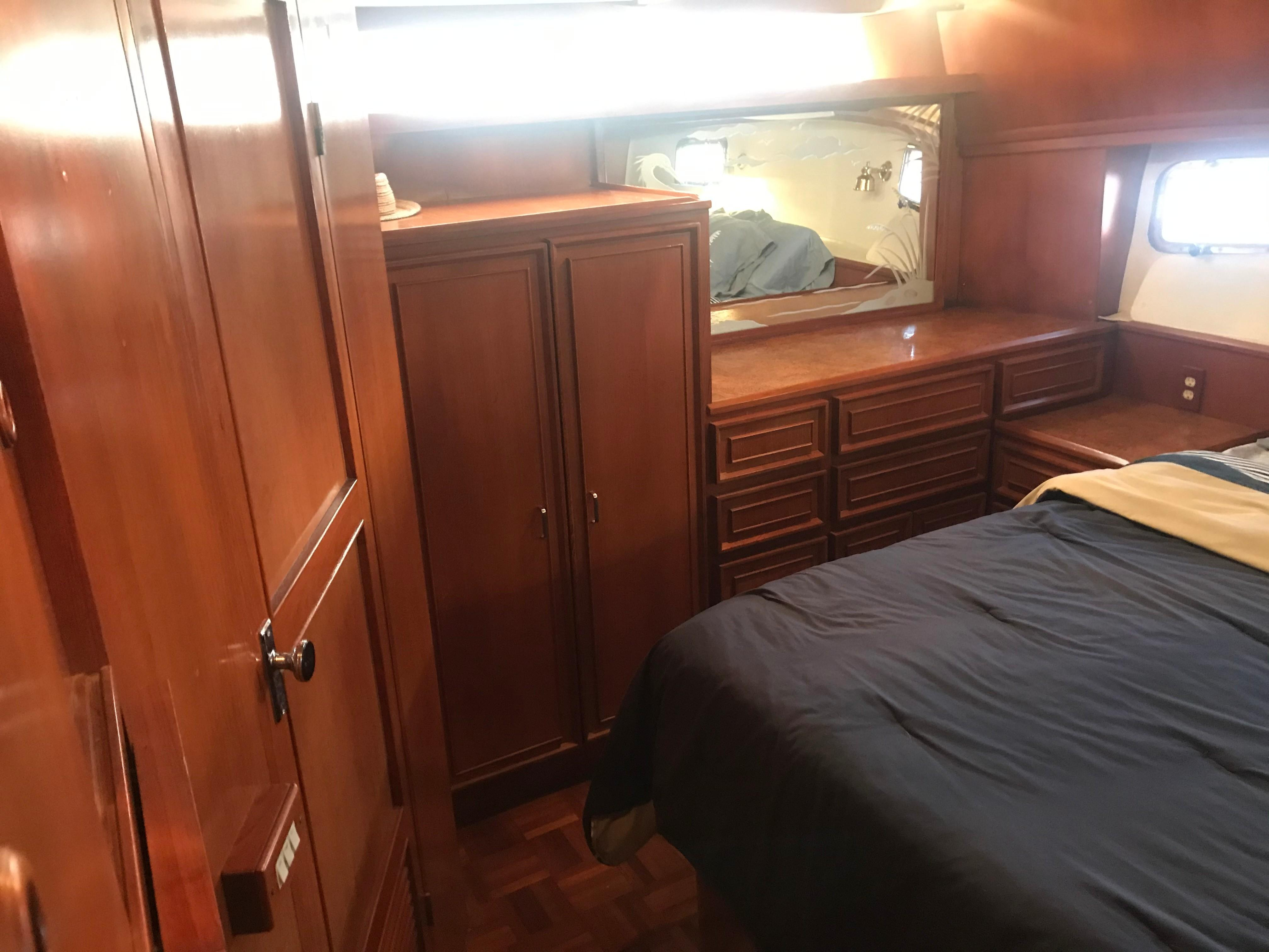 Jefferson 46 Sundeck - Cabinetry in MSR to starboard