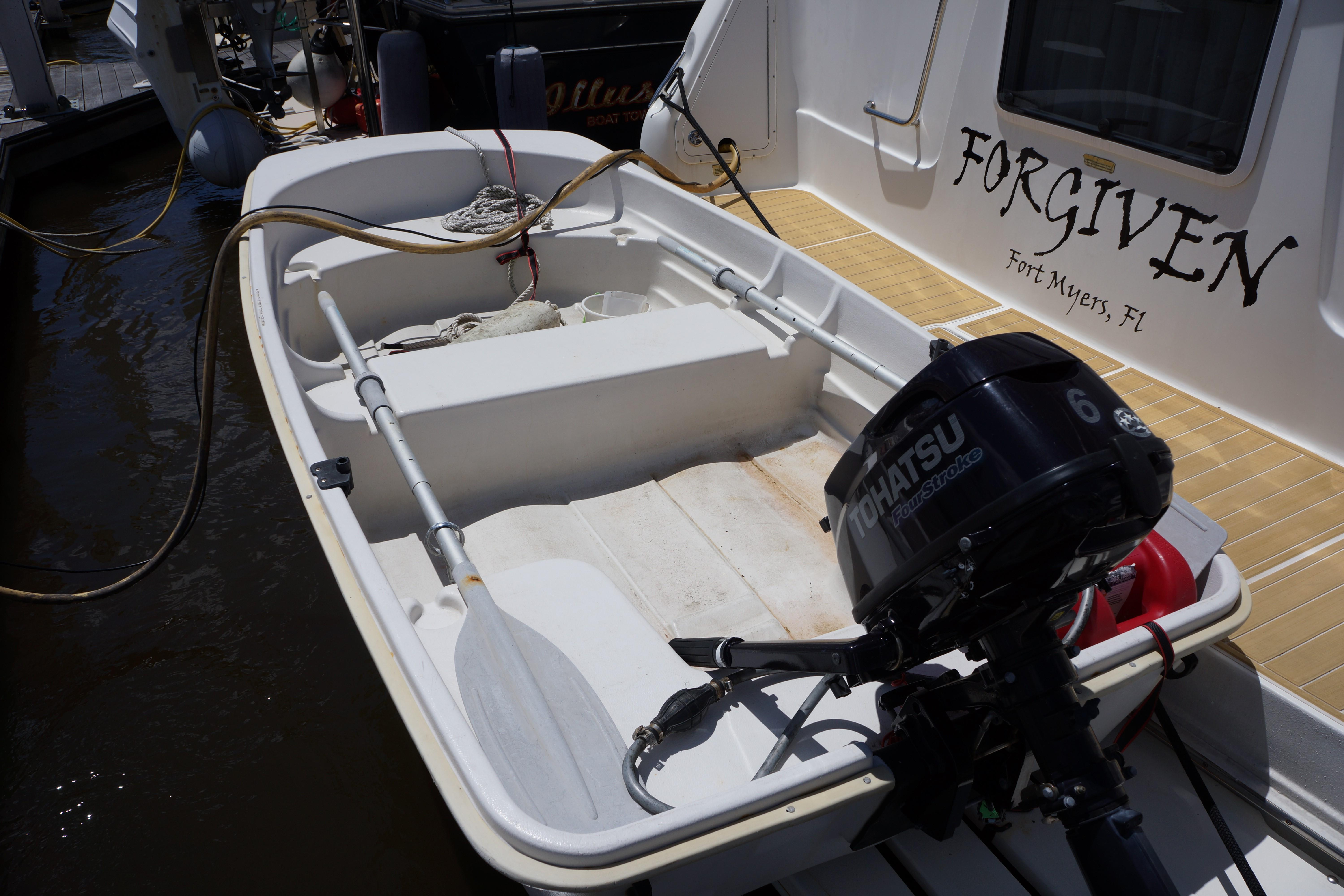 Sea Ray 370 Aft Cabin - 10 foot Sun Dolphin tender and outboard